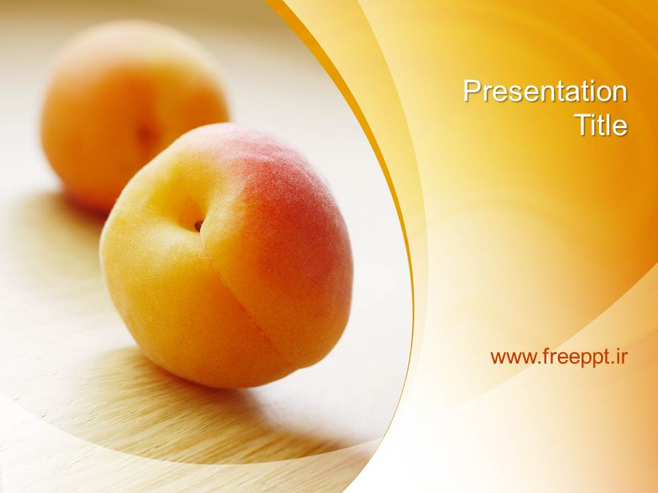 قالب پاورپوینت با موضوع میوه هلو