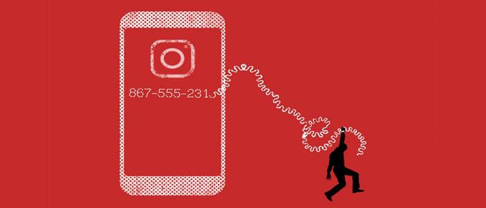 نحوه برداشتن دکمه Call و حذف شماره از اکانت اینستاگرام