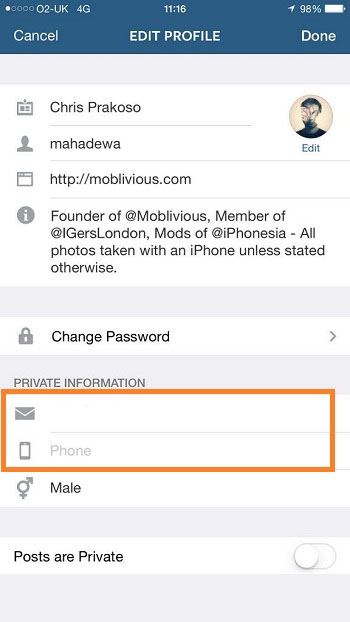 روش برداشتن و حذف شماره از اینستاگرام برای جلوگیری از پیدا کردن شما!