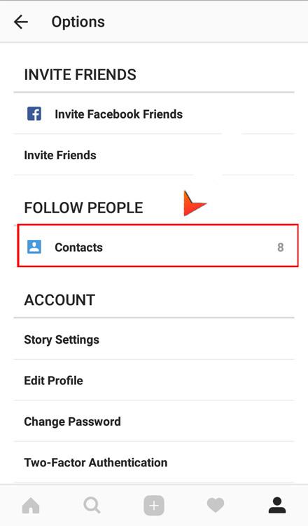 آموزش پیدا کردن دوستان در اینستاگرام بوسیله شماره موبایلشان