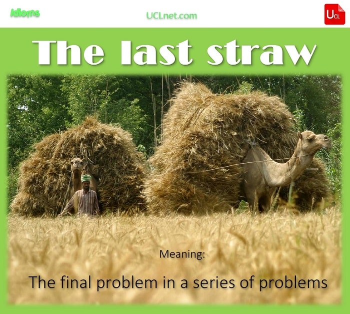 English idiom: the final / last straw