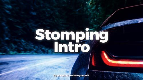 دانلود پروژه آماده افترافکت استارت فیلم : Stomping Intro