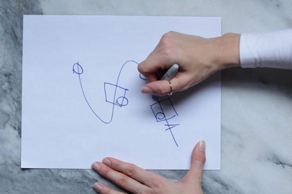 مهارت خطوط راست در مقابل منحنی های s شکل :