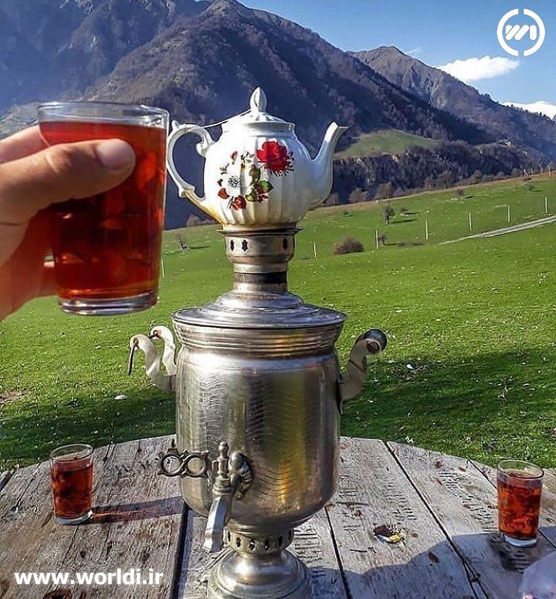 چایی خوردن در طبیعت