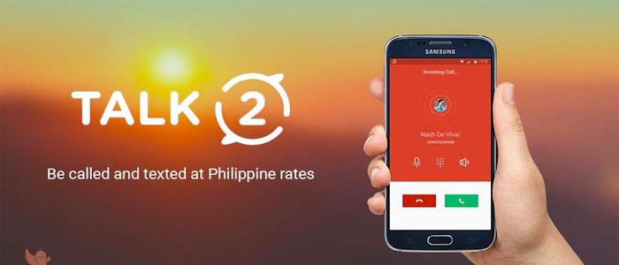 دانلود و آموزش برنامه Talk2 تالک تو ساخت شماره مجازی فیلیپین