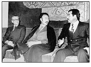 قرار داد الجزایر با میانجیگری رهبر الجزایر بین شاه ایران و رئیس جمهور عراق