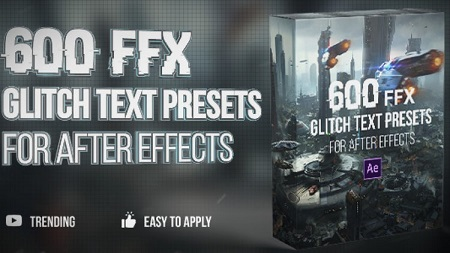 دانلود Motion Array - 600 Glitch Text Presets After Effects Presets