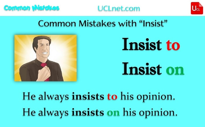 "Common Mistakes with ""Insist"""