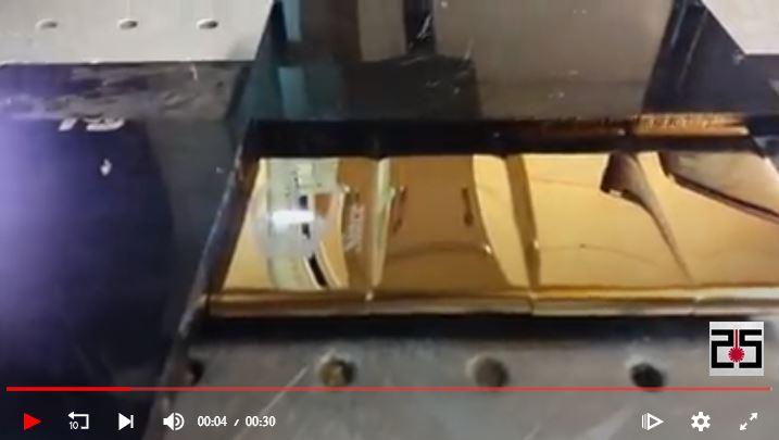 تولید و حکاکی لیزری پلاک سررسید رنگ طلایی میرور