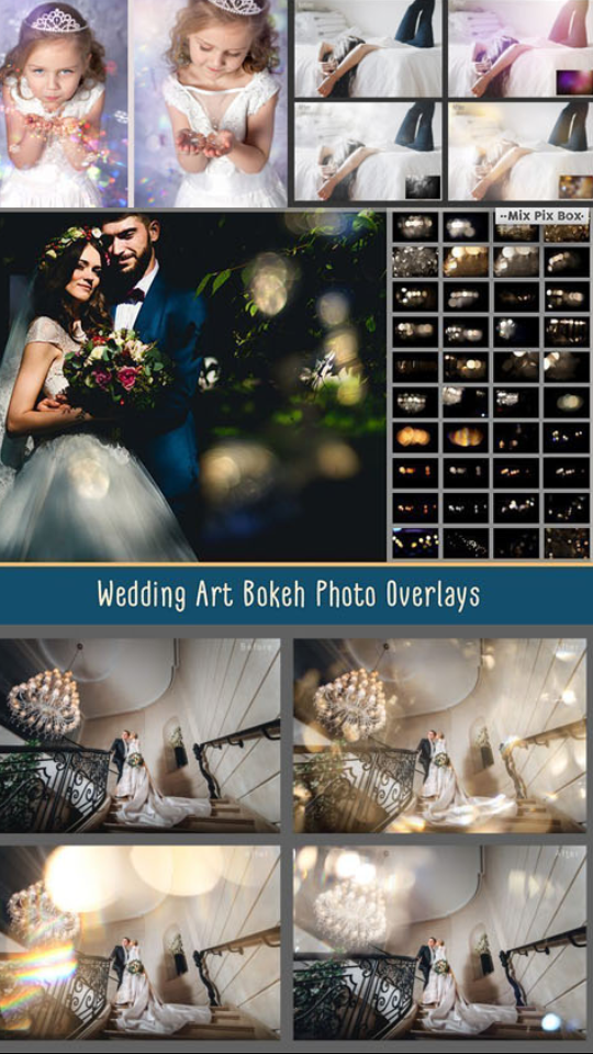پک آماده Overlay مخصوص طراحی عکس و فیلم عروس