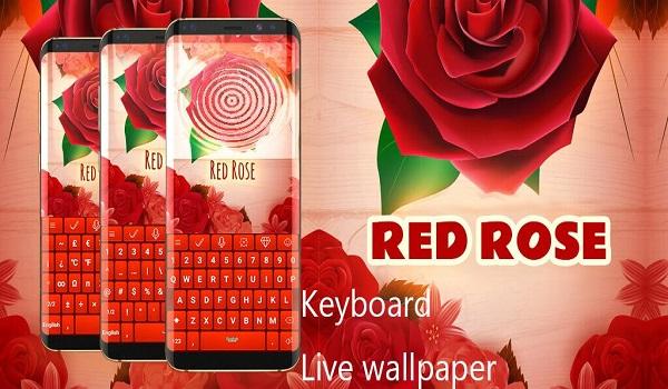 دانلود Red Rose Keyboard Full 4.1.0 - صفحه کلید زیبا و عاشقانه اندروید