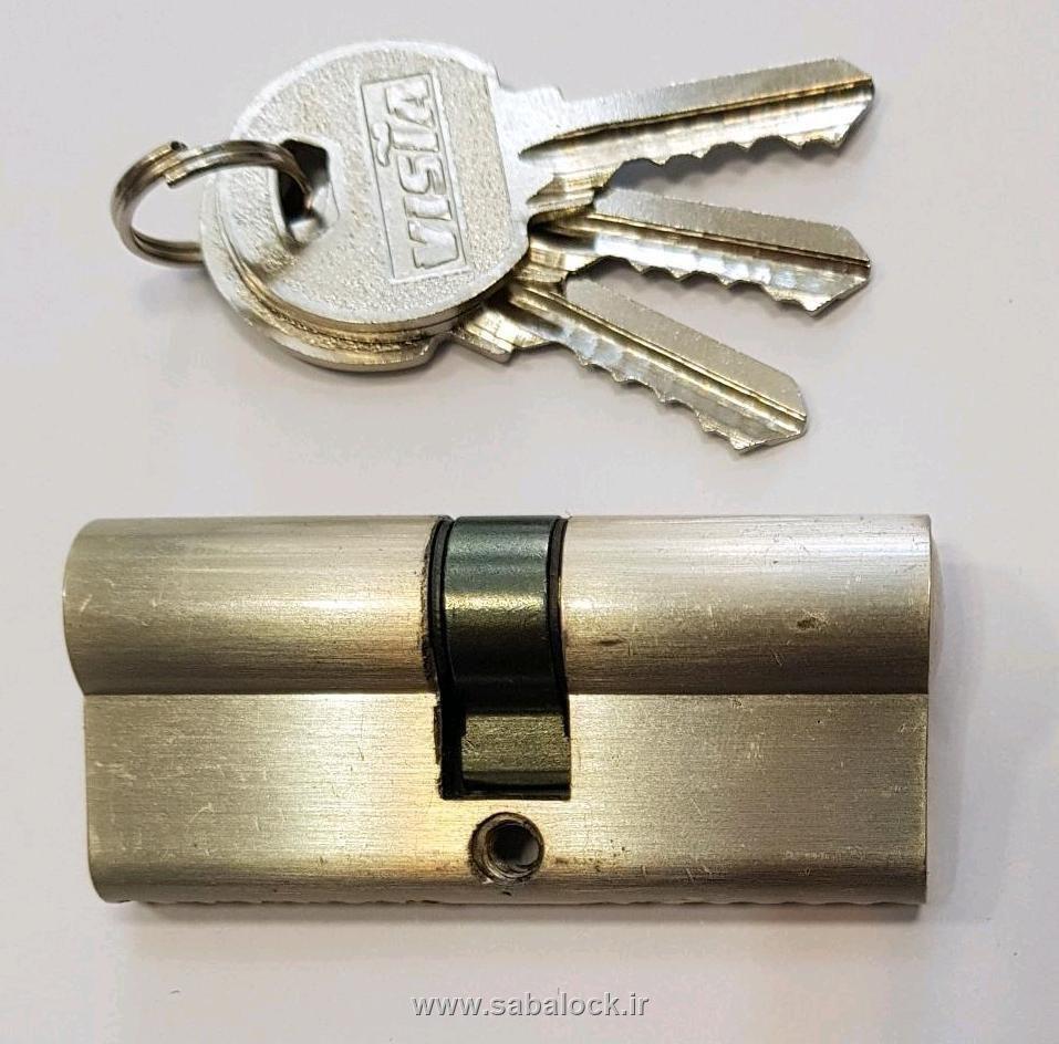 سیلندر Vista طلایی و کروم کلید ساده