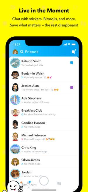 دانلود برنامه اسنپ چت snapchat برای ایفون