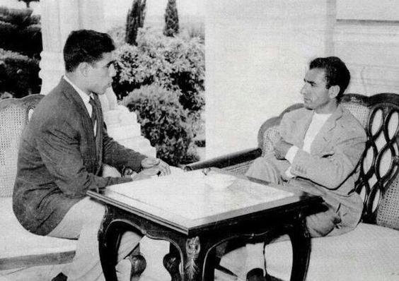 تصویری از محمد رضا شاه و غلامرضا تختی