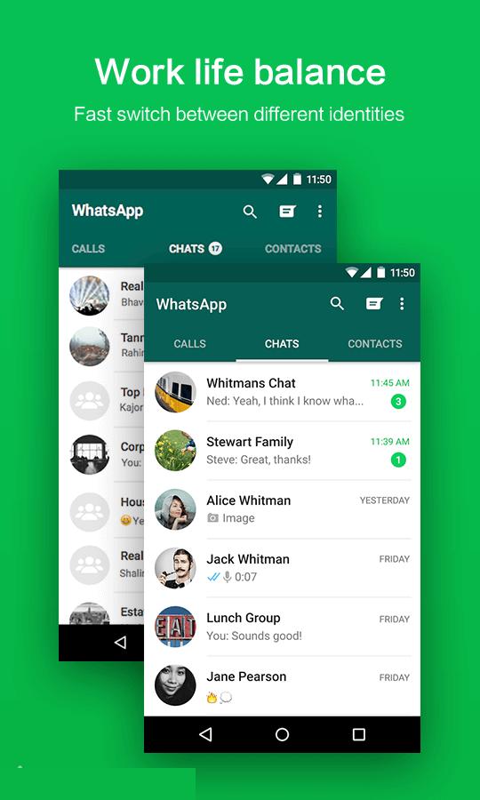 دانلود OGWhatsApp 6.85 او جی واتس اپ فارسی نصب همزمان دو واتس آپ (جدید)