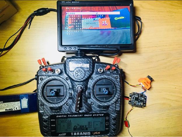 FPV camer setting via LCD and RC