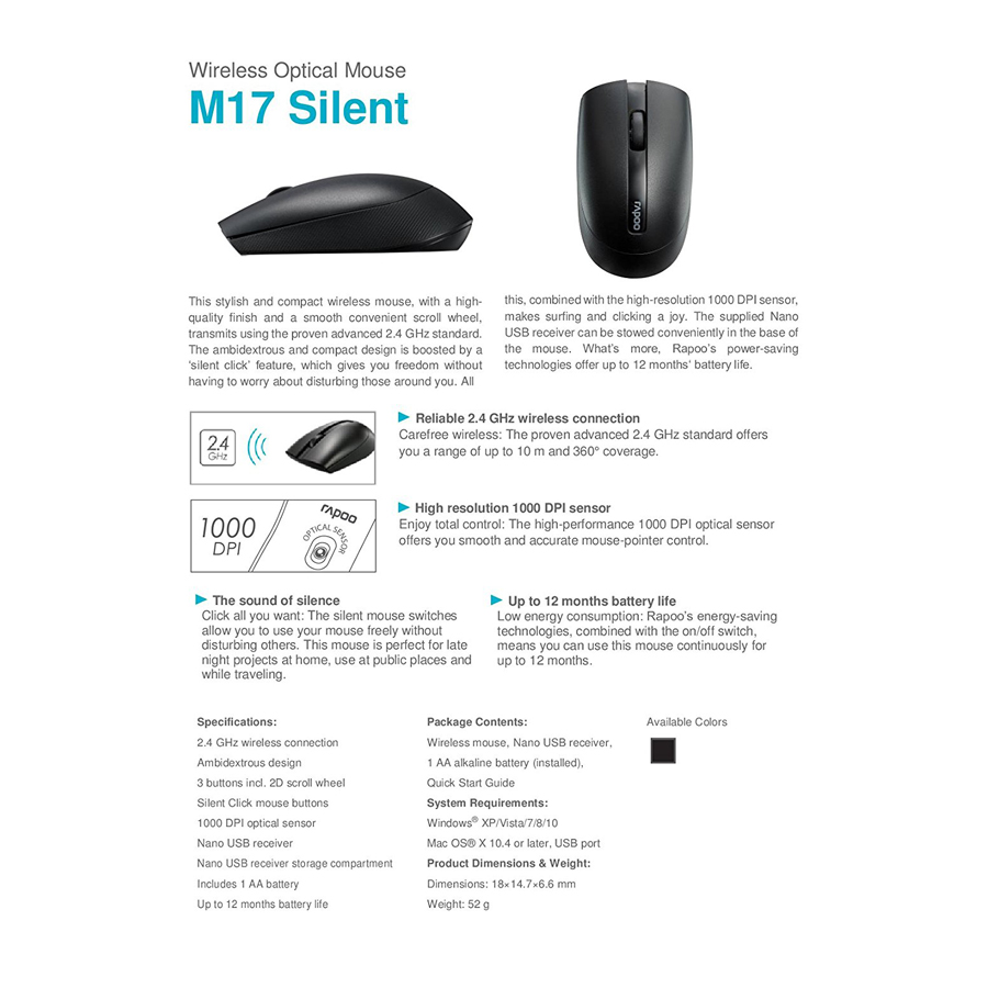 rapoo m17 wireless mouse rapoo m17 wireless mouse Rapoo M17 Wireless Mouse Rapoo M17 Wireless Mouse