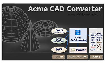 دانلود Acme CAD Converter 2019 - نرم افزار تبدیل فرمت فایل های اتوکد به تصویر