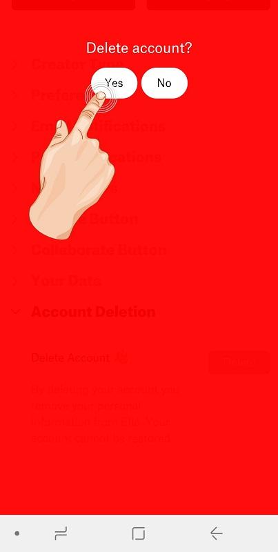 نحوه حذف حساب کاربری در شبکه اجتمای الو – دیلیت اکانت Ello