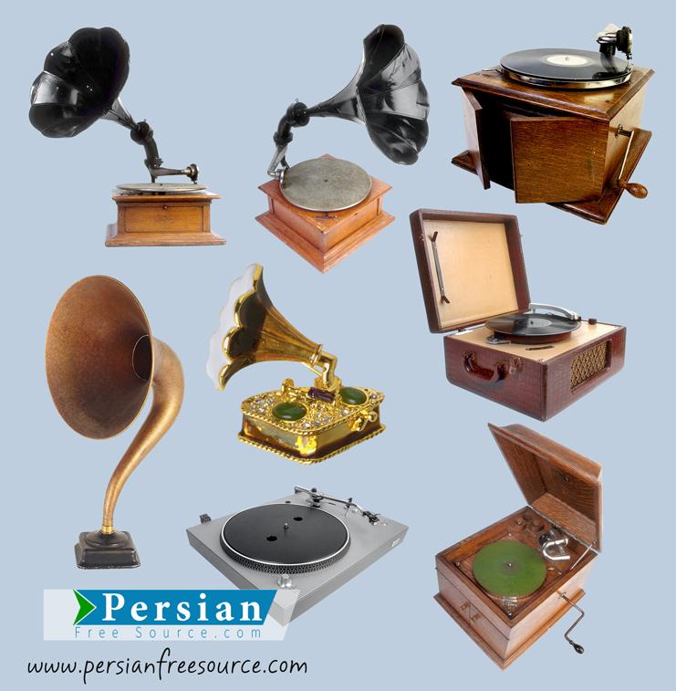 دانلود فایل لایه باز گرامافون Nostalgic Phonograph PSD