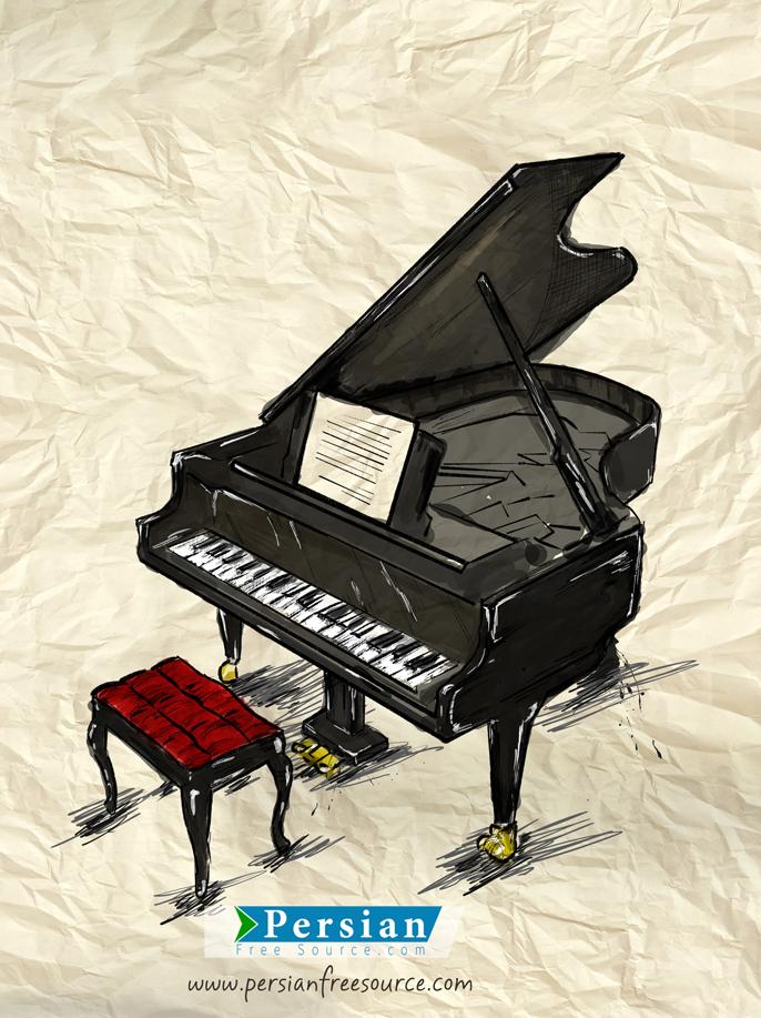 دانلود فایل با کیفیت پوستر پیانو