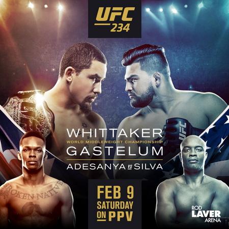 پیش نمایش و معرفی رویداد یو اف سی 234 : UFC 234: Whittaker vs. Gastelum+نظر سنجی