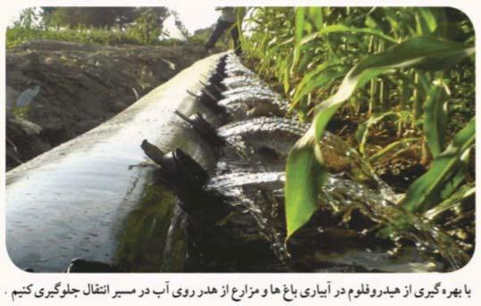 استفاده از هیدروفلوم جهت کاهش هدر رفت آب