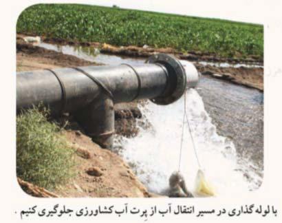لوله گزاری در مسیر انتقال آب باعث کاهش هدر رفت آب میشود