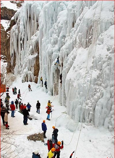 آبشار یخی (دیواره یخی) هملون