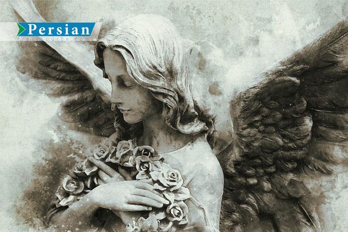 دانلود تصویر مجسمه فرشته