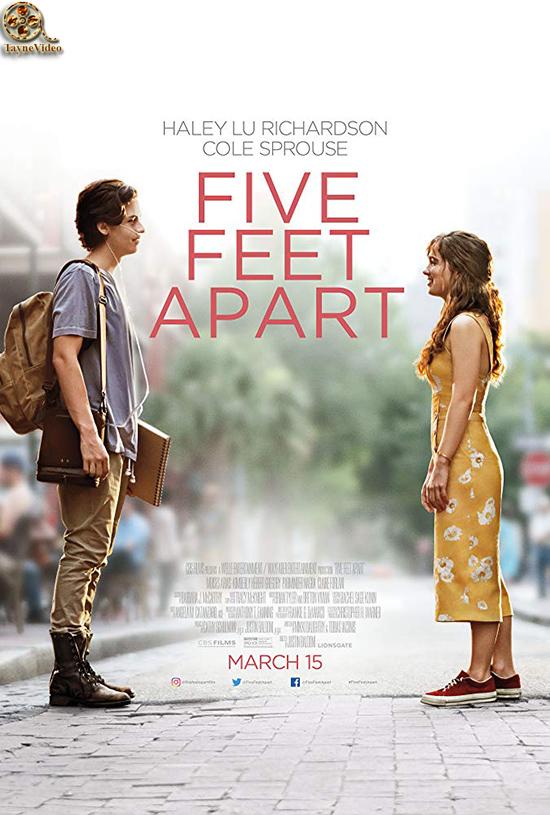 دانلود فیلم پنج پا فاصله - Five Feet Apart 2019