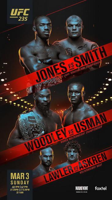 نتایج رویداد :UFC 235: Jones vs. Smith