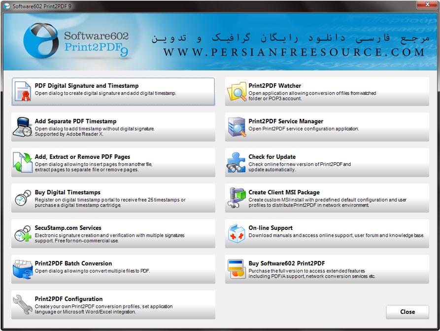 دانلود پرینتر مجازی Print2PDF 9.5.12.0907