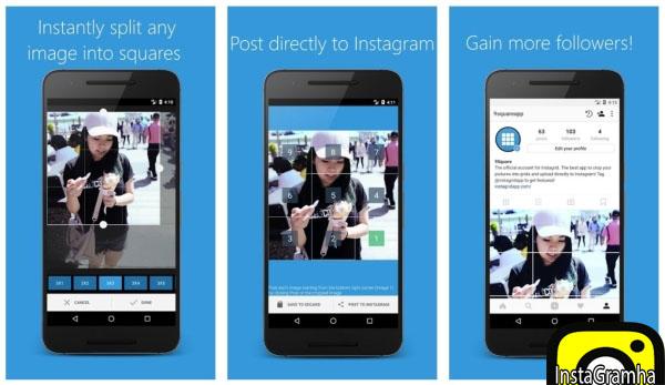 دانلود ۹square for Instagram برای اندروید جهت ساخت عکس چند تکه