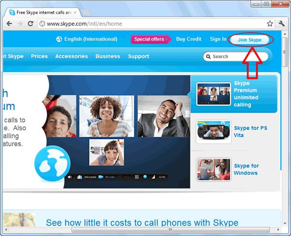 آموزش تصویری ساخت اکانت اسکایپ skype در کامپیوتر