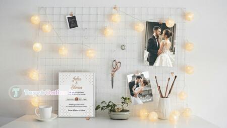 پروژه افترافکت عروسی جدید با سبکی زیبا ( نمایش میز خاطرات عکس عروس)