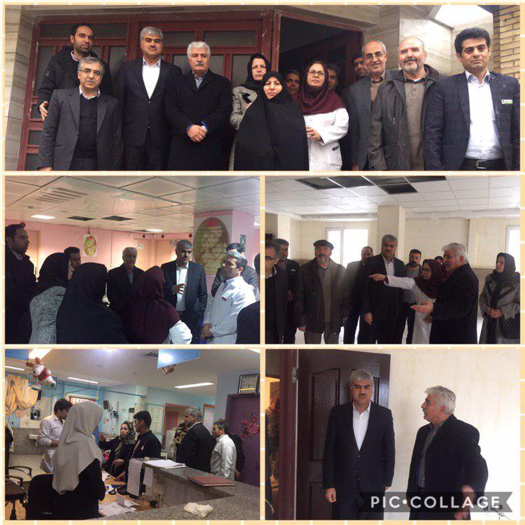 بازدید رئیس دانشگاه علوم پزشکی به همراه رئیس شورای عالی بیماران خاص و صعب العلاج از همراه سرا بیمارستان دکتر محمد کرمانشاهی