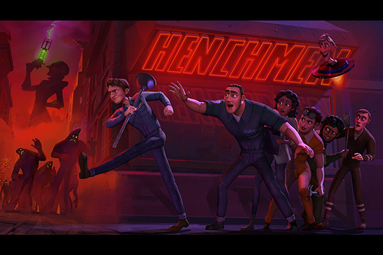 دانلود انیمیشن هنچمن Henchmen 2018 با دوبله فارسی