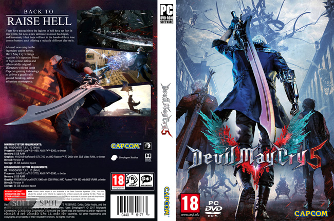 Devil May Cry 5 Cover