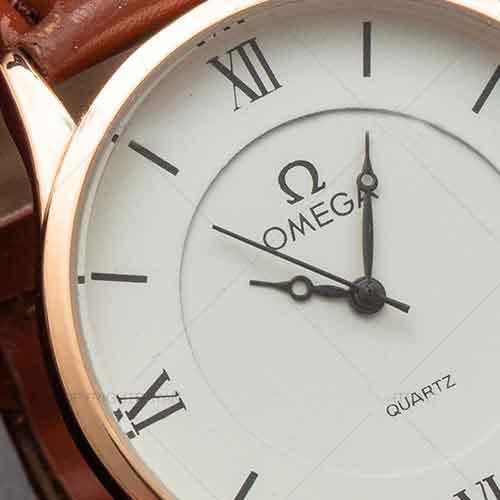 ست ساعت مردانه و زنانه Omega (قهوه ای)