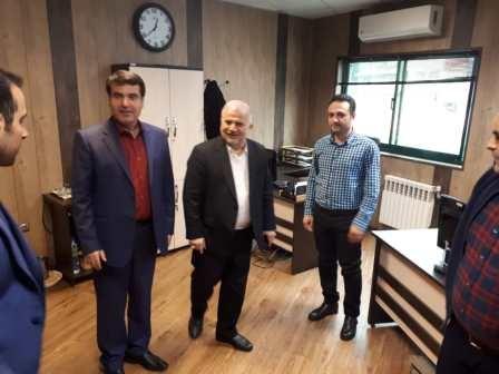 دیدار نوروزی دکتر احمد رمضانپور، عضو شورای شهر با مدیروپرسنل شهرداری منطقه یک