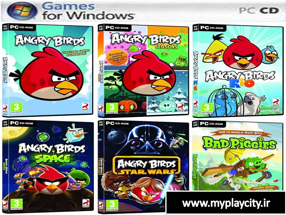 دانلود کالکشن بازی Angry Birds پرندگان خشمگین