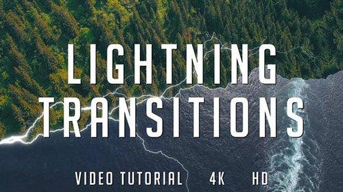 دانلود پروژه و ترنزیشن آماده افترافکت : VideoHive - Lightning Transitions Pack