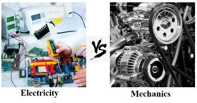 مقایسه رشته مهندسی مکانیک و مهندسی برق