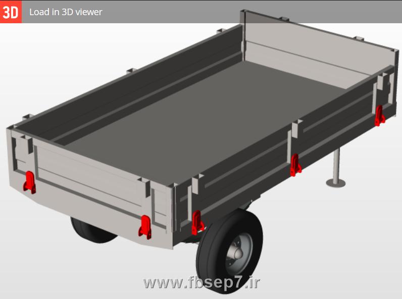 دانلود طراحی تریلر پشت تراکتوری در سالیدورک - پروژه سالیدورک - سفارش پروژه سالیدورک