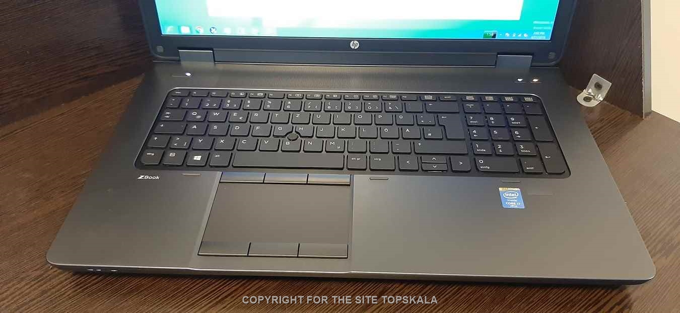 لپ تاپ استوک اچ پی مدل HP ZBOOK 17 G2 با مشخصات i5-8GB-500GB-HDD-2GB-intel-HD-2GB-nVidia-Quadro-K1100