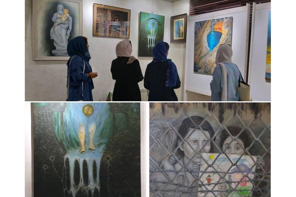 """برپایی نمایشگاه نقاشی با عنوان """"لوتوس"""" در لاهیجان"""