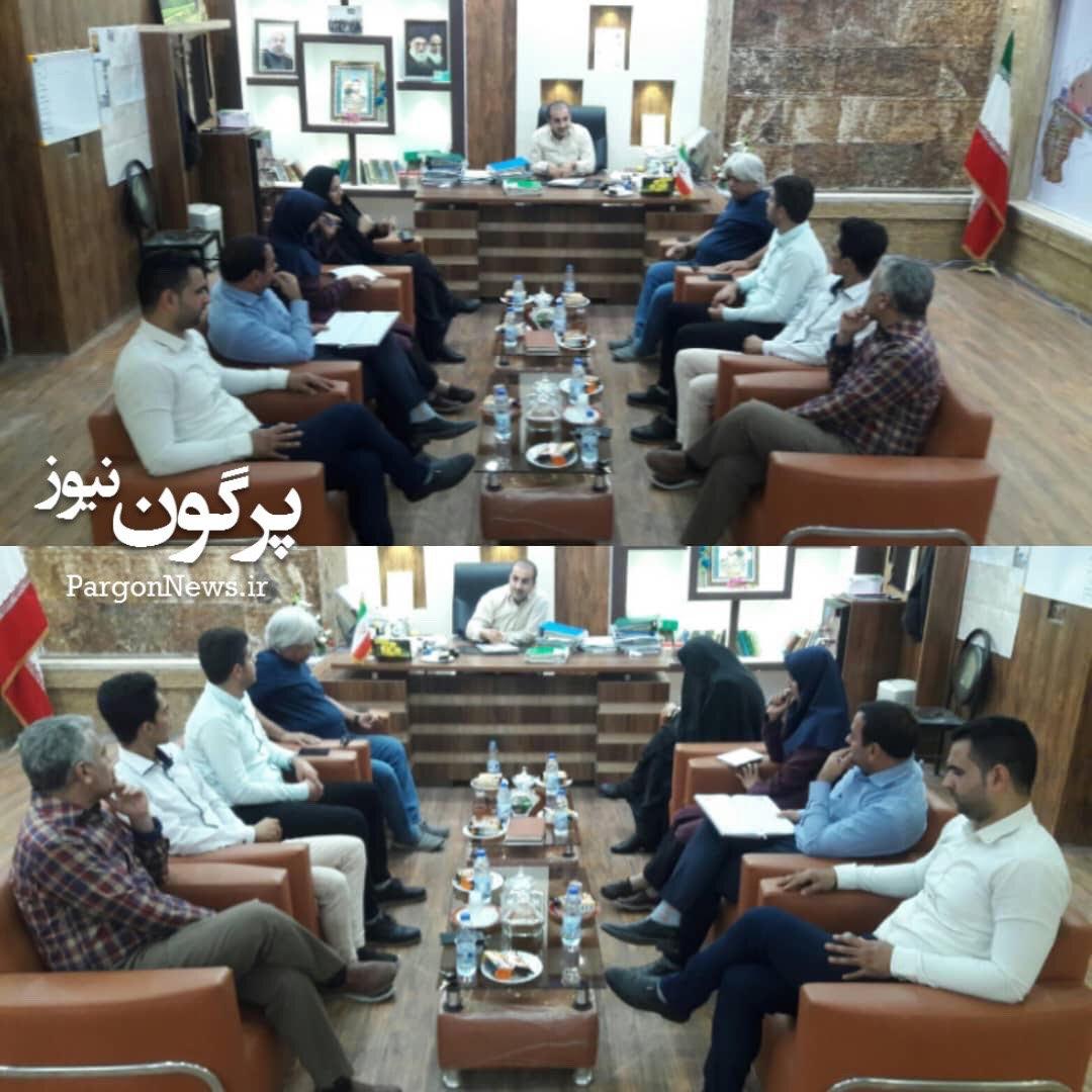دیدار ریاست اداره میراث فرهنگی قیروکارزین با شهردار قیر