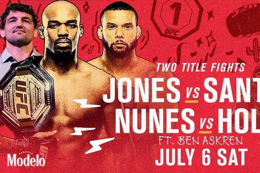 دانلود رویداد یو اف سی : - UFC 239: Jones vs. Santos-نسخه ی 1080