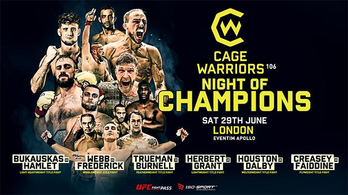دانلود رویداد ام ام ای |  Cage Warriors 106: Night of Champions